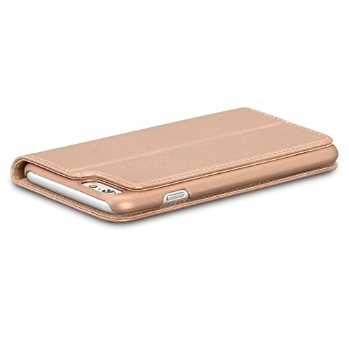 CASEZA Cover iPhone 8 / Cover iPhone 7 Oro Rosa Similpelle a Libro