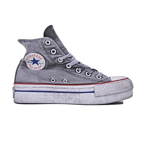 converse all star platform grige