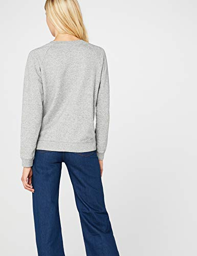 Levi's relaxed graphic crew, felpa donna, grigio, x small