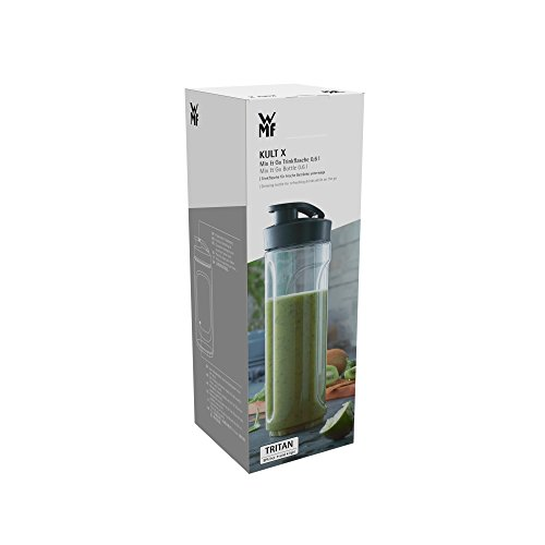 WMF Kult X Mix /& Go Borraccia 600 ml Fitness Nero Trasparente Plastica