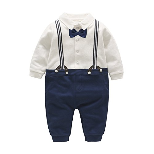 Decstore 1pcs del neonato Gentleman pagliaccetto Bowknot Smoking Baptism Formale Outfits