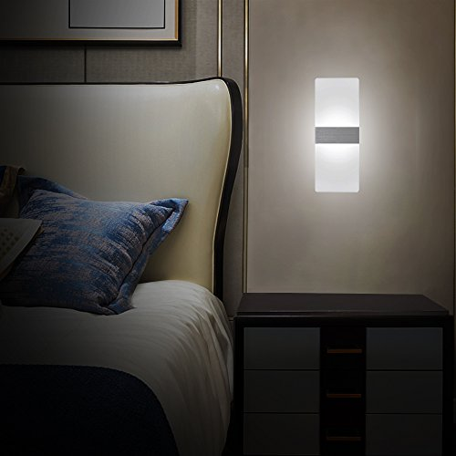 Applique Per Camera Da Letto.Netboat Lampada Da Parete 6w Led Interni Moderno Applique Da