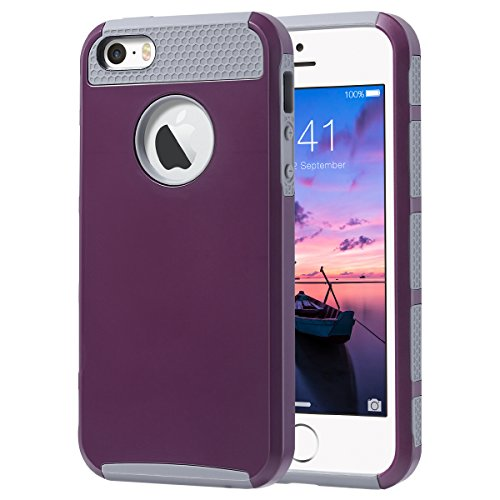 ULAK - COVER per iPhone 5S iPhone SE / 5 Custodia Ibrida a