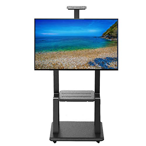 Mobile Porta Tv Con Ruote.Zaqi Supporto Tv Staffa Porta Tv 32 75 Universal Tv Carrelli