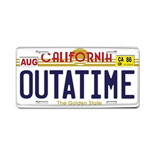 anteriore targa Cafepress/  / Targa in alluminio Vanity tag by Cafepress / replica Back to the Future aluminum License Plate/