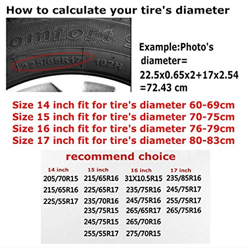 SUV And Various Vehicles Protezione della Ruota Car Tire Cover Sunscreen Protective Cover David Lozeau 1st Air Cav Water Proof Universal Spare Wheel Tire Cover Fit for Trailer RV