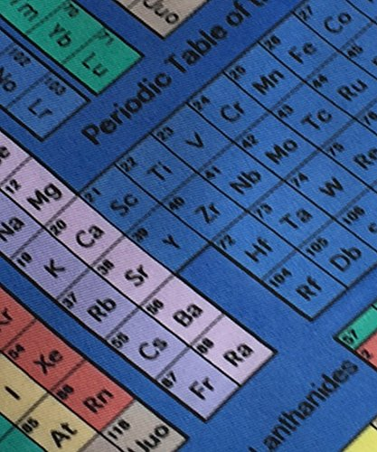 Coloured Periodic Tables on blue repeating 100/% Polyester Classic Tie