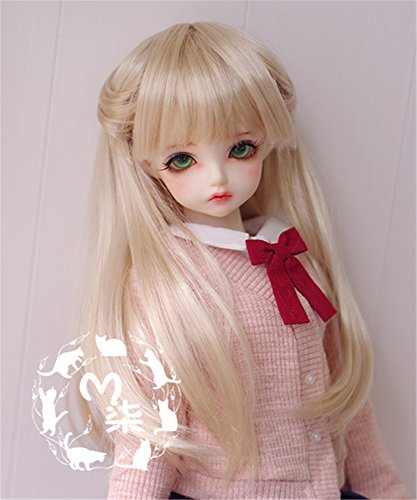 Wig Only, Not A Doll Tita-Doremi BJD Poup/ée PerruqueBall-Jointed Doll 1//3 8-9 inch 22-24cm Dollfie Pullip SD DOD DD Pink Toy Head Wig Hair