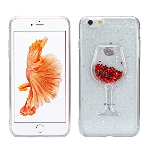 cover iphone 7 bicchiere di vino