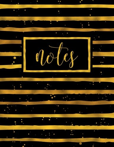 Download Notes: Notebook Journal & Diary with Gold Stripes on Black 1539455386