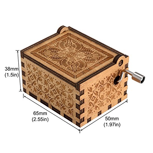 meccanismo 18 note Antique Carved Musical Box Best Gift For Kids Manovella in legno Beauty and the Beast Music Box Friends