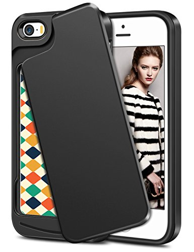 Coolden Custodia iPhone SE Cover iPhone 5S Hybrid Dual Layer