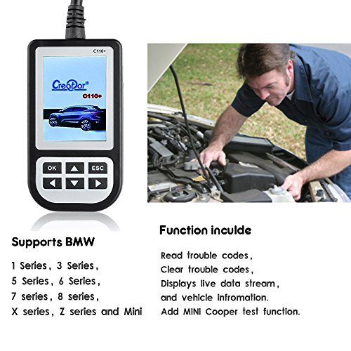 MAOZUA Latest Version 5.6 Creator C110 BMW Code Reader Airbag//ABS//SRS Diagnostic Scan Tool for BMW c110