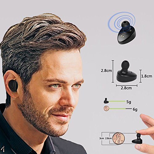 Twins Auricolare Mini Bluetooth 4.1 auricolari in ear cuffie
