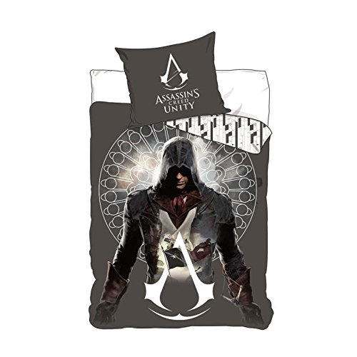 Copripiumino Assassins Creed.Assassin Creed Unity Parure De Couette Microfibre 1 Housse De