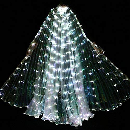 Luce LED Donne Isis Ali Belly Dance Costumes 360 Gradi Sticks Forniture Danza Props