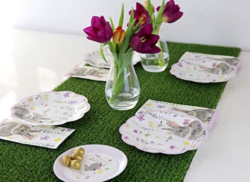 Talking Tables TSBUNNY Can Truly Bunny 5 Canape Plate Pack of 12 Multicolore Plastica