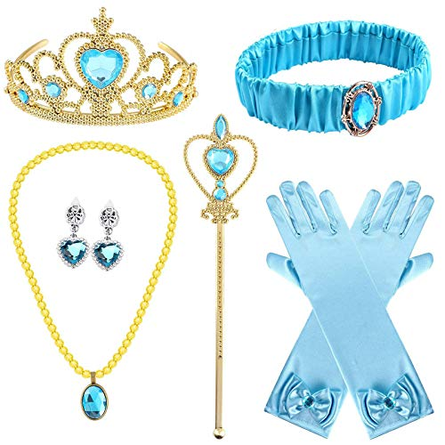 Le Ragazze Princess Dress Up VANITY Set Sandali Tiara Bacchetta Costume Collana Disney