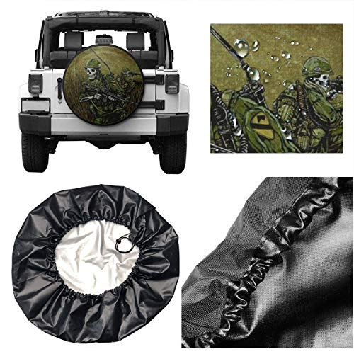 SUV And Various Vehicles RV Protezione della Ruota Car Tire Cover Sunscreen Protective Cover David Lozeau 1st Air Cav Water Proof Universal Spare Wheel Tire Cover Fit for Trailer