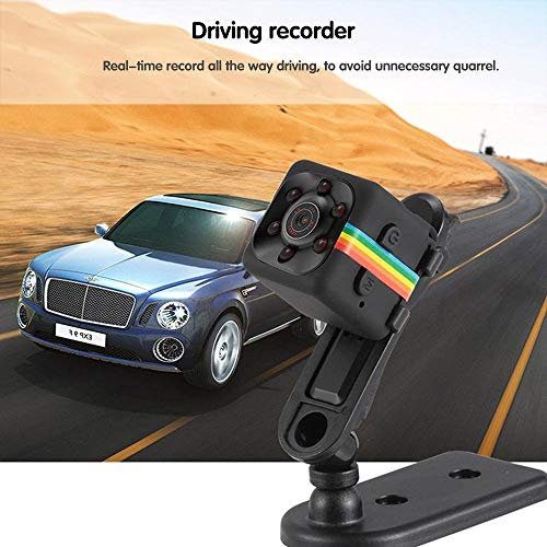 Office And Driving Security Black Finmind Driving Mini Camera SQ11,HD 1080P Supporting 32G SD Card with Night Vision,140 Wide Angle for Home