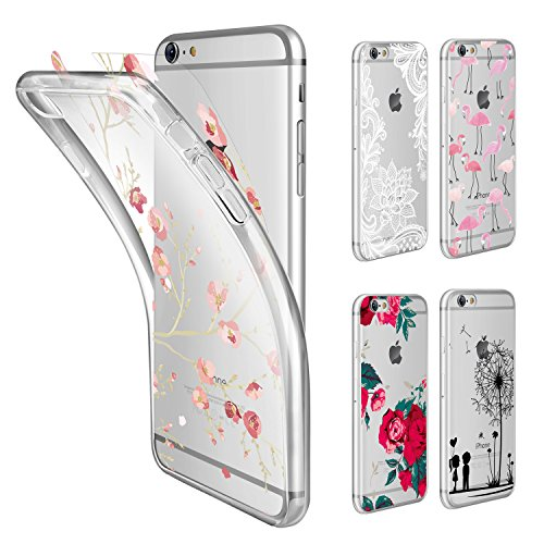COVER PER IPHONE 6S/6 Apple Trasparente Morbida Custodia Sottile