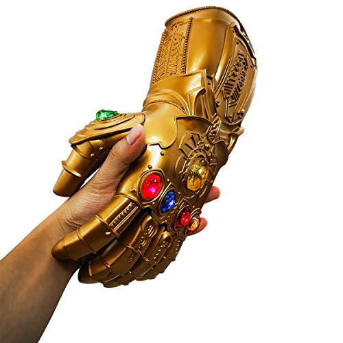 Avengers Hero Role Cosplay Adulto Infinity Gauntlet Cosplay yacn PVC incandescente Marvel Legends Infinity Thanos Guanto con Pietre a LED