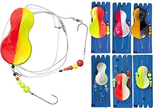 90 cm Yellow//Glow Zebco Z-Sea Flatty Teaser Inline Rig