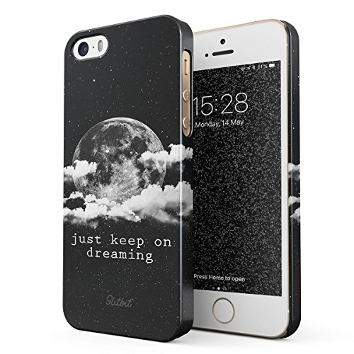 Glitbit Cover per iPhone 5 / 5s / SE Case Just Keep On Dreaming ...
