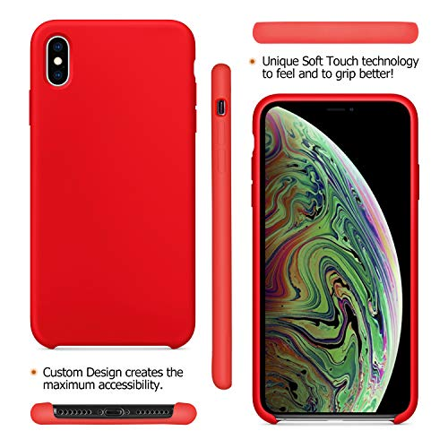Custodia iPhone Xs Fuleadture [Supporta la Ricarica Wireless