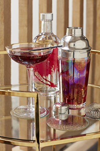 9/ x 9/ x 12/ cm Trasparente//Rosa 590/ ml 21/ FL oz Creative Tops AVA e i Flamingo Decorato Stemless Wine Glass